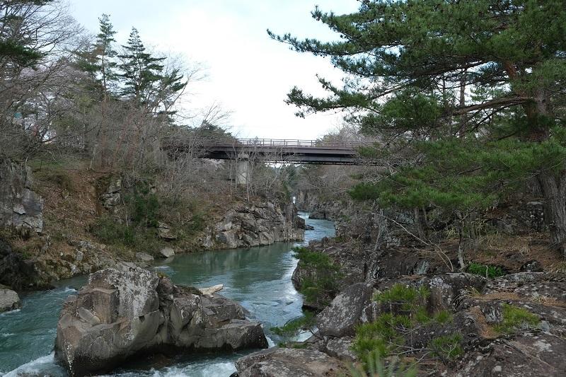 厳美渓の景色の写真