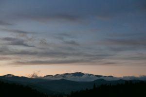 栗駒山の夕焼けの写真