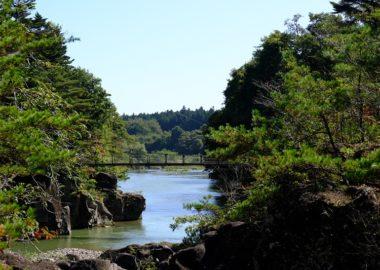 厳美渓の10月10日の風景写真