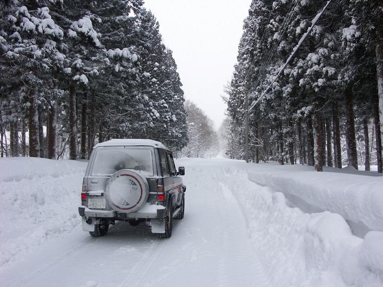 一関祭畤の冬