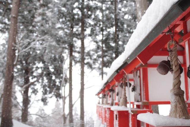 中尊寺の冬 雪景色2