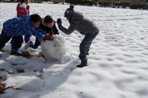 骨寺村の冬 雪だるま